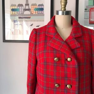 Vintage • As If Plaid Peacoat